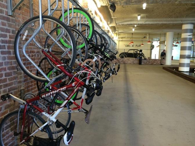 Ponce City Market bike parking.